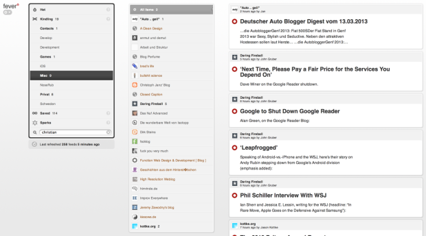 Fever - selbstgehostete Google Reader Alternative